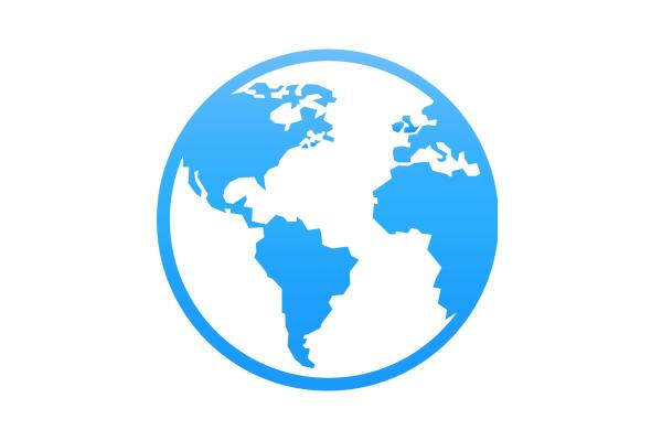 Blue globe icon